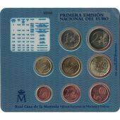 Spain, Euro Set of 8 coins, 2002
