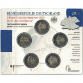 Germany, Euro Set of 5 x 2 Euro, 2010 ADFGJ