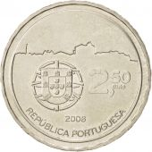 Portugal, 2-1/2 Euro, 2008, Lisbon, KM:824, MS(63), Copper-nickel
