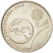 Portugal, 2-1/2 Euro, 2008, Lisbon, KM:790, MS(63), Copper-nickel