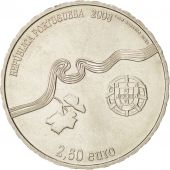 Portugal, 2-1/2 Euro, 2008, Lisbon, KM:825, MS(63), Copper-nickel