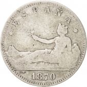 Spain, Provisional Government, Peseta, 1870, Madrid, TB, Silver, KM:653