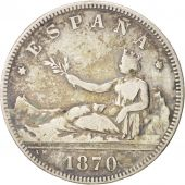 Spain, Provisional Government, 2 Pesetas, 1870, Madrid, TB+, Silver, KM:654