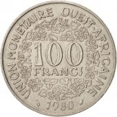 West African States, 100 Francs, 1980, TTB, Nickel, KM:4