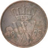 Pays-Bas, William III, Cent, 1877, TB, Copper, KM:100