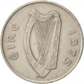 IRELAND REPUBLIC, 10 Pence, 1975, TTB, Copper-nickel, KM:23