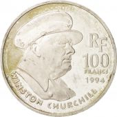 France, 100 Francs, Churchill, 1994, Paris, TTB, Silver, KM:1037