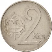 Czechoslovakia, 2 Koruny, 1986, TTB, Copper-nickel, KM:75