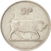 IRELAND REPUBLIC, 5 Pence, 1969, TTB, Copper-nickel, KM:22