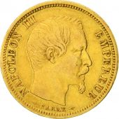 France, Napoleon III, 10 Francs, petit module, 1854, Paris, EF(40-45), Gold