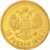 Russia, Nicholas II, 10 Roubles, 1900, St. Petersburg, EF(40-45), Gold, KM:64