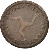 Isle of Man, Penny, 1786, TB, Cuivre, KM:9.1