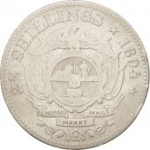 South Africa, 2-1/2 Shillings, 1894, VF(20-25), Silver, KM:7