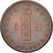 Haiti, 6 Centimes, 1846, EF(40-45), Copper, KM:28