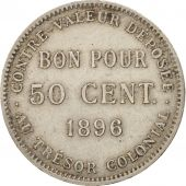 Réunion, 50 Centimes, 1896, TTB, Copper-nickel, KM:4