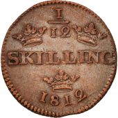 Suède, Carl XIII, 1/12 Skilling, 1812, SUP, Cuivre, KM:584