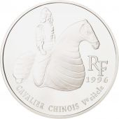 France, 10 Francs-1.5 Euro, 1996, Cavalier Chinois, MS(65-70), Silver, KM:1158