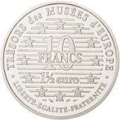 France, 10 Francs-1.5 Euro, 1996, David, Paris, SUP, Argent, KM:1146