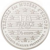 France, 10 Francs-1.5 Euro, 1997, Danseuse, Paris, FDC, Argent, KM:1292