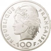 France, 100 Francs-15 Ecus, 1993, Natation, Paris, MS(65-70), Silver, KM:1029