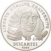 France, 100 Francs-15 Ecus, 1991, Descartes, Paris, FDC, Argent, KM:1002