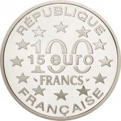 France, 100 Francs-15 Euro, 1996, Amsterdam, FDC, Argent, KM:1156