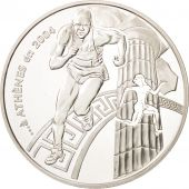 France, 1-1/2 Euro, 2003, Coubertin, Athènes, FDC, Argent, KM:1361