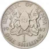 Kenya, Shilling, 1967, British Royal Mint, EF(40-45), Copper-nickel, KM:5