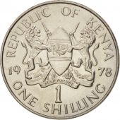 Kenya, Shilling, 1978, British Royal Mint, MS(63), Copper-nickel, KM:14