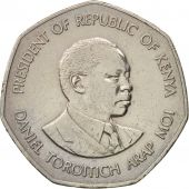 Kenya, 5 Shillings, 1985, British Royal Mint, EF(40-45), Copper-nickel, KM:23