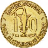 West African States, 10 Francs, 1978, TTB, Aluminum-Nickel-Bronze, KM:1a
