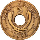 EAST AFRICA, George V, 5 Cents, 1923, TTB, Bronze, KM:18