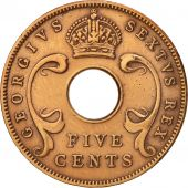 EAST AFRICA, George VI, 5 Cents, 1952, EF(40-45), Bronze, KM:33