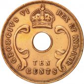 EAST AFRICA, George VI, 10 Cents, 1942, EF(40-45), Bronze, KM:26.2