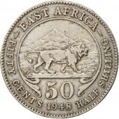 EAST AFRICA, George VI, 50 Cents, 1948, EF(40-45), Copper-nickel, KM:30