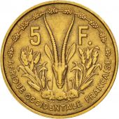 French West Africa, 5 Francs, 1956, Paris, TTB, Aluminum-Bronze, KM:5