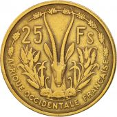 French West Africa, 25 Francs, 1956, Paris, TB+, Aluminum-Bronze, KM:7