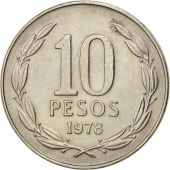 Chile, 10 Pesos, 1978, TTB, Copper-nickel, KM:210