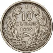 Chile, 10 Centavos, 1925, TTB, Copper-nickel, KM:166