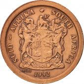South Africa, 2 Cents, 1992, AU(50-53), Copper Plated Steel, KM:133