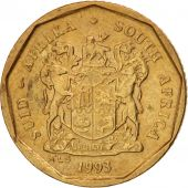 South Africa, 10 Cents, 1993, AU(55-58), Bronze Plated Steel, KM:135