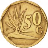 South Africa, 50 Cents, 1991, Pretoria, EF(40-45), Bronze Plated Steel, KM:137