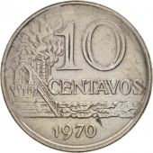 Brésil, 10 Centavos, 1970, TTB, Copper-nickel, KM:578.2
