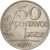 Brésil, 50 Centavos, 1970, TTB, Copper-nickel, KM:580a