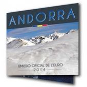 Andorra, Euro-Set, 1 Cent to 2 Euro, 2014, FDC, BU