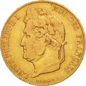 France, Louis-Philippe, 20 Francs, 1838, Lille, EF(40-45), Gold, KM:750.5