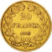 France, Louis-Philippe, 20 Francs, 1839, Lille, EF(40-45), Gold, KM:750.5