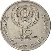 Cape Verde, 10 Escudos, 1977, TTB, Copper-nickel, KM:19