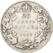 Canada, George V, 25 Cents, 1917, Royal Canadian Mint, Ottawa, TB+, Argent