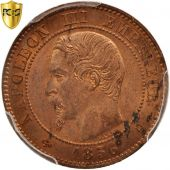 France, Napoleon III, 2 Centimes, 1856, Paris, PCGS, MS64RD, KM:776.1